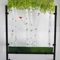 Glass Panel featuring Birch Trees