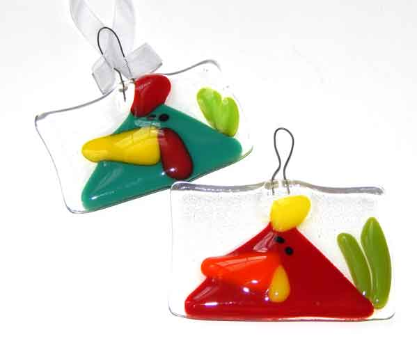 Funky chicken ornaments or suncatcher