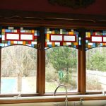 valance made of stained glass