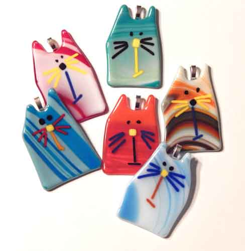 Whimsical cat ornament