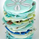Stack of sand dollar ornaments