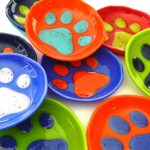 small bowl featuring paw print