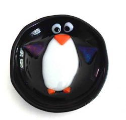trinket dish featuring penguin
