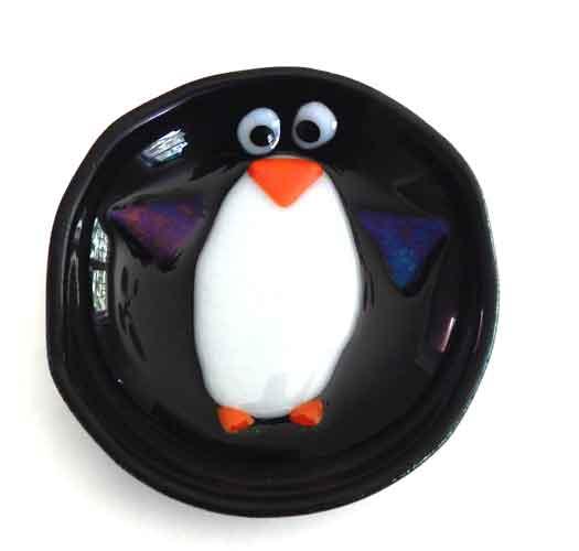 Trinket Dish Featuring Penguin