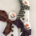 snowman with plum scarf