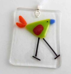 lime colord bird ornament