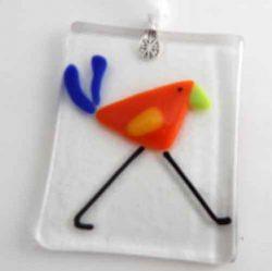orange bird ornament
