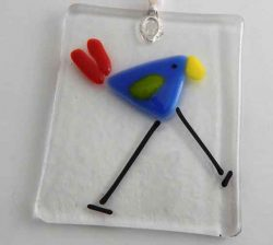 periwinkle bird ornament